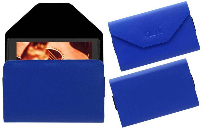 ACM Pouch for Micromax Canvas Tab P681 Blue, Cases with Holder