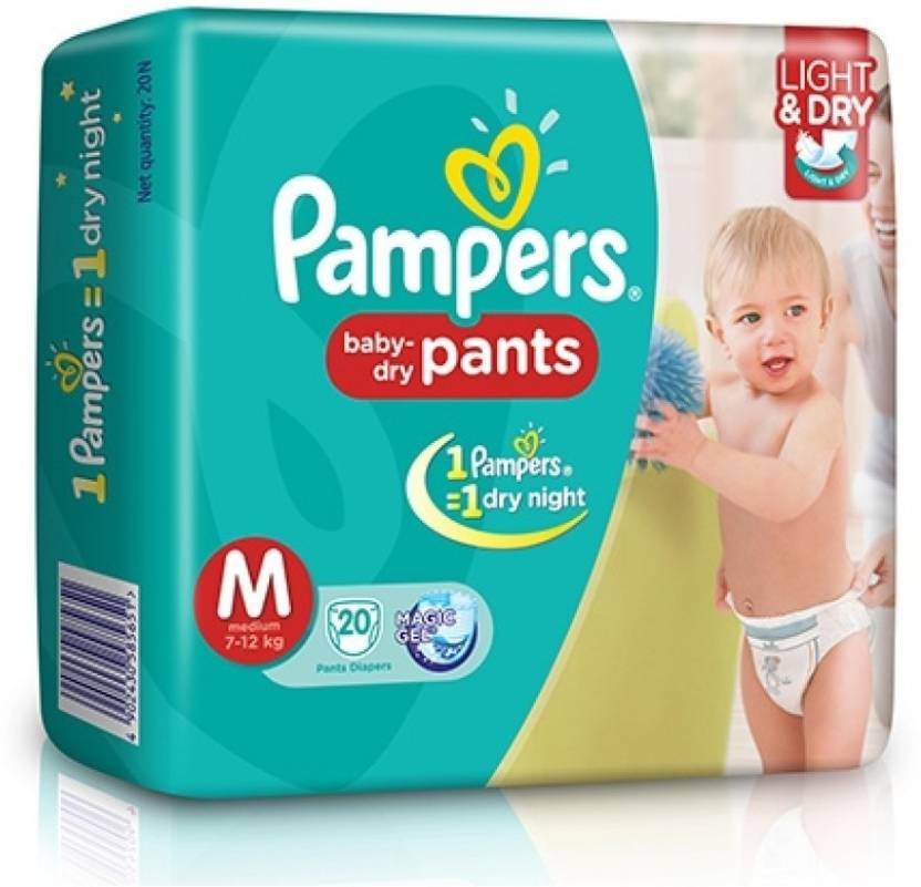 Pampers Pampers Baby Dry Pants Diapers Medium 20 Pieces M