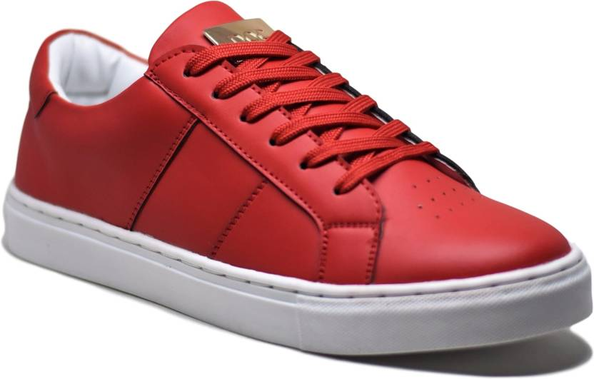 best service 245df d33b5 DOC Martin Bravo Red Sneakers For Men (Red, White)