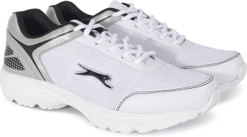 38eba49192 Slazenger ZETA Running Shoes For Men - Buy White/Grey/Silver Color ...
