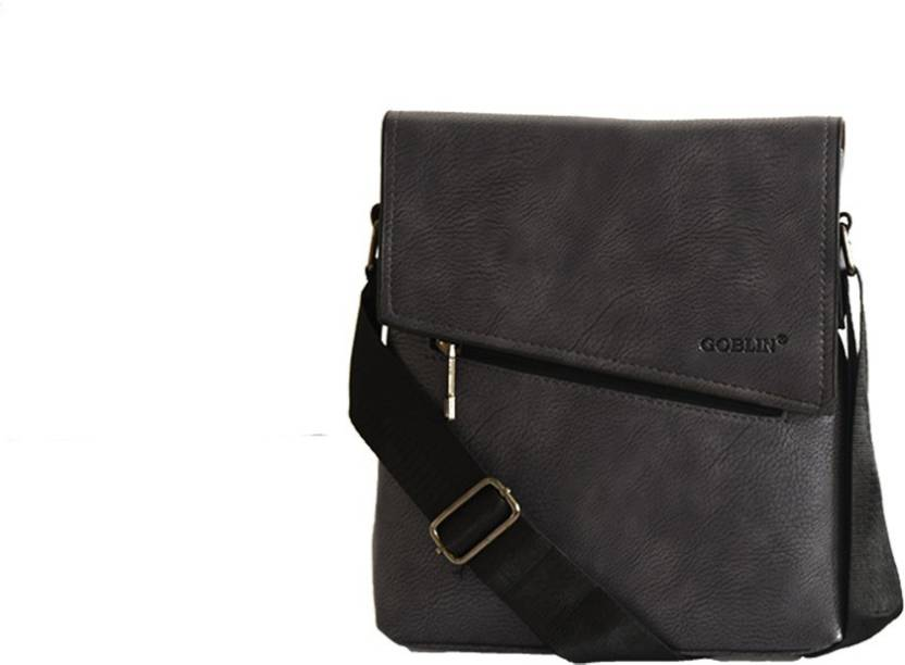 d1c6bf7c969 Goblin Men   Women Formal Grey PU Sling Bag Grey - Price in India ...