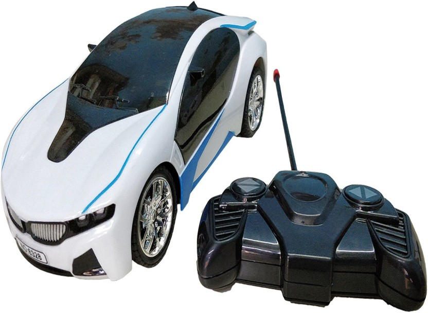 GRAPPLE DEALS Famous Car Bmw I8 Electric Chargeable 3D Lightning Remote  Control For Kids
