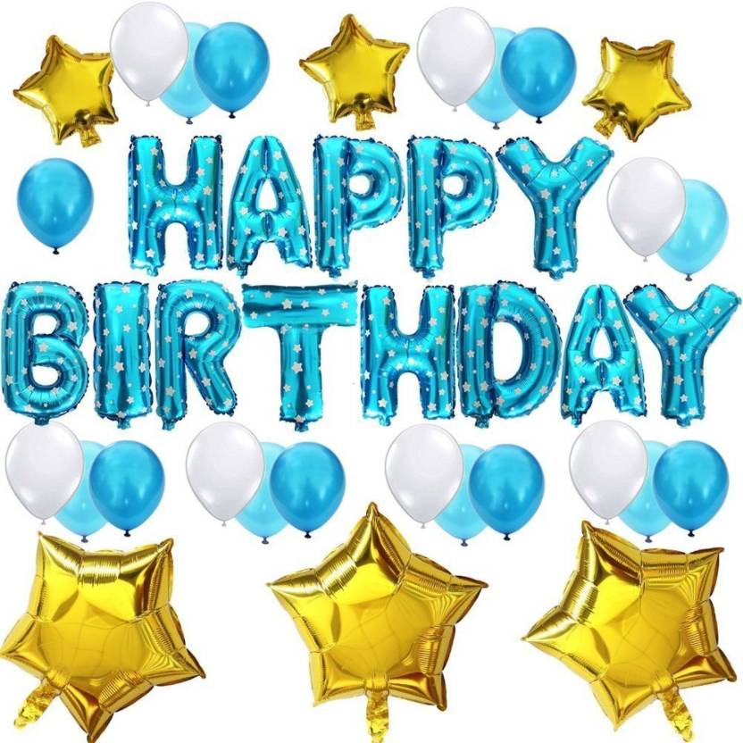 Shop Online Blue Happy Birthday Foil Balloons