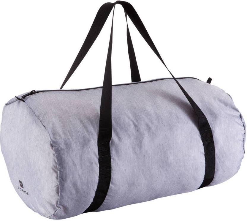 DOMYOS by Decathlon Medium Fold-Down Gym Bag Grey - Price in India ... 2ab6e4e8155fd