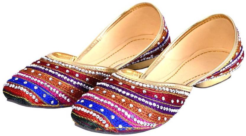 Indian Handicrafts Export Women Multi Color Heels Buy Indian
