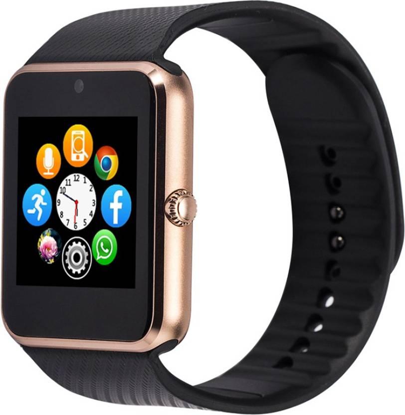 SYL Yezz Andy 5E LTE Silver Smartwatch  (Black Strap Free Size)