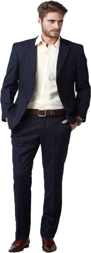 d954bd278b4 Hangup Single Breasted Solid Men s Suit - Buy Blue Hangup Single ...