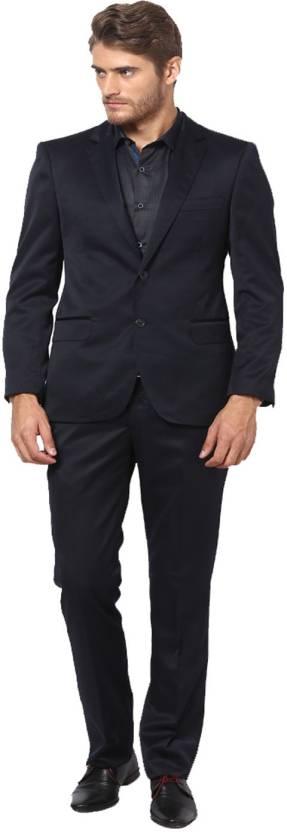 1a2af246ed2 Hangup Single Breasted Solid Men s Suit - Buy Black Hangup Single ...