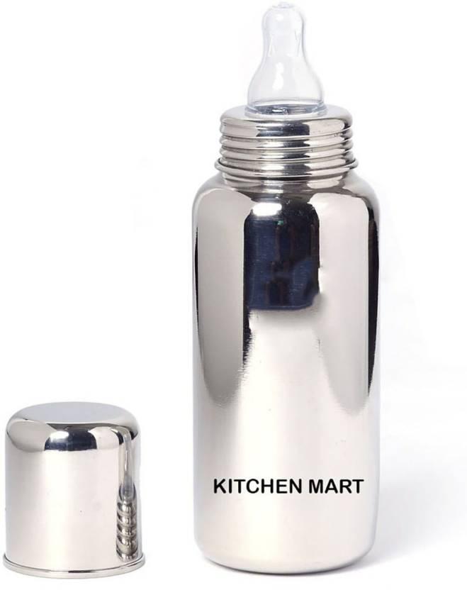 0661513ae93 Kitchen Mart 304 grade Stainless steel Feeding bottle - 260 ml (Silver)