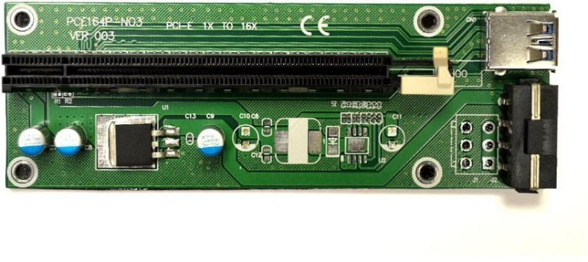 PCI-E Express 1x Male to Female 16x Extension Flex Cable Converter Riser Card