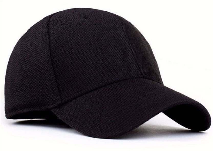 Huntsman Era Black Premium Fitted Flexfit Strechable Baseball Cap ... e0ffb6270264