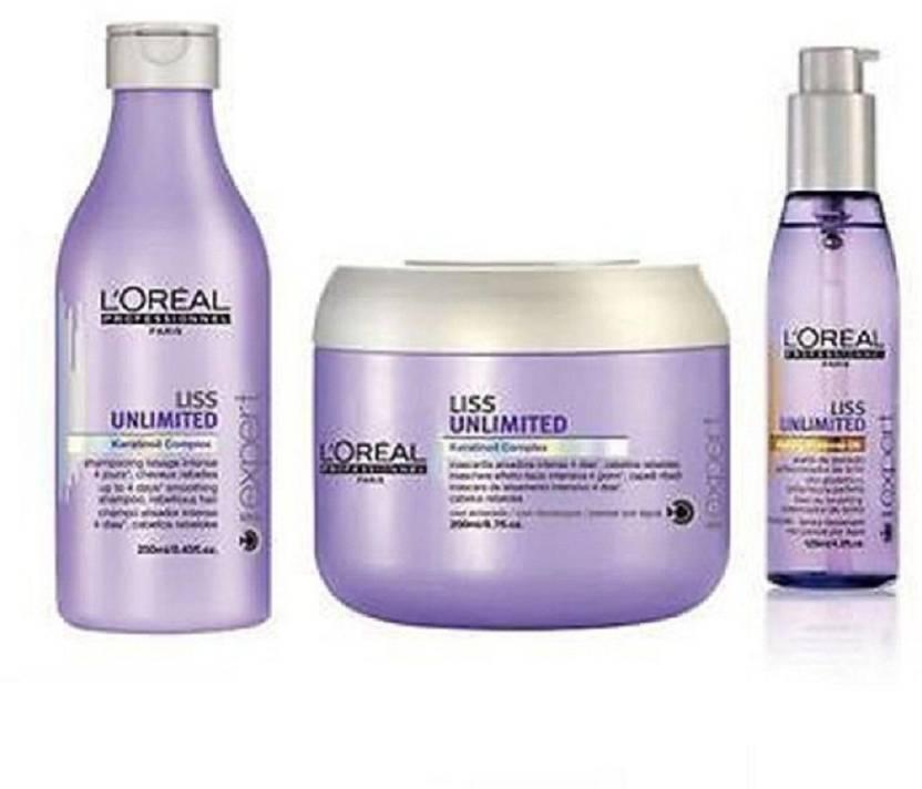 9f6d5ae16 L'Oreal Paris Paris Professionnel Liss Unlimited shampoo and masque & Serum  Kit (Set of 3)