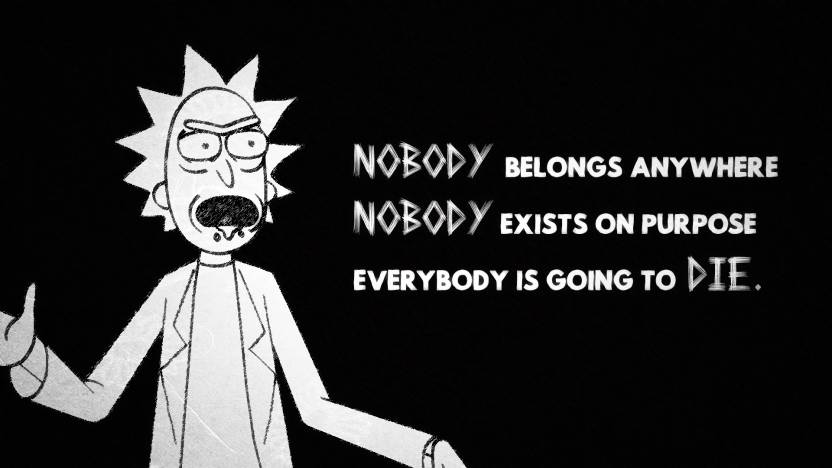 tv show rick and morty quote hd wall poster paper print tv series