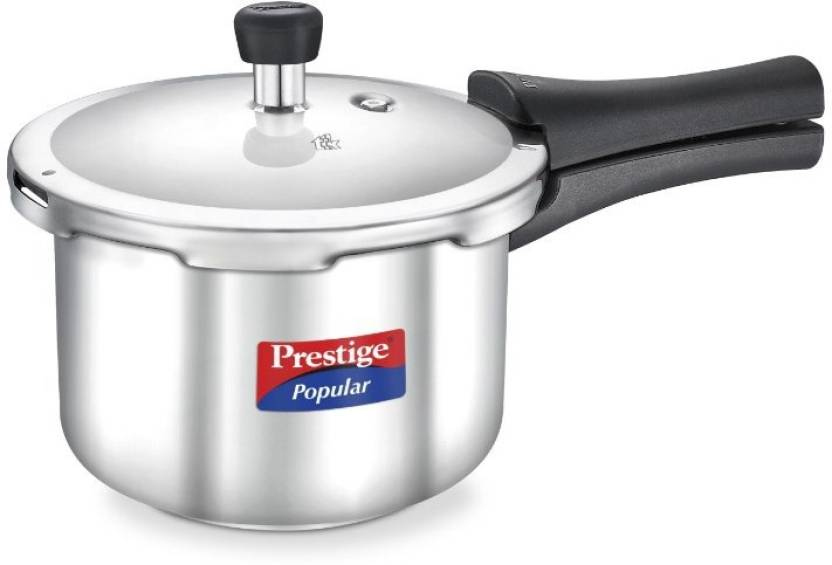 f4fc3b5f3 Prestige Popular Steel (20651) 3 L Pressure Cooker with Induction Bottom (Stainless  Steel)