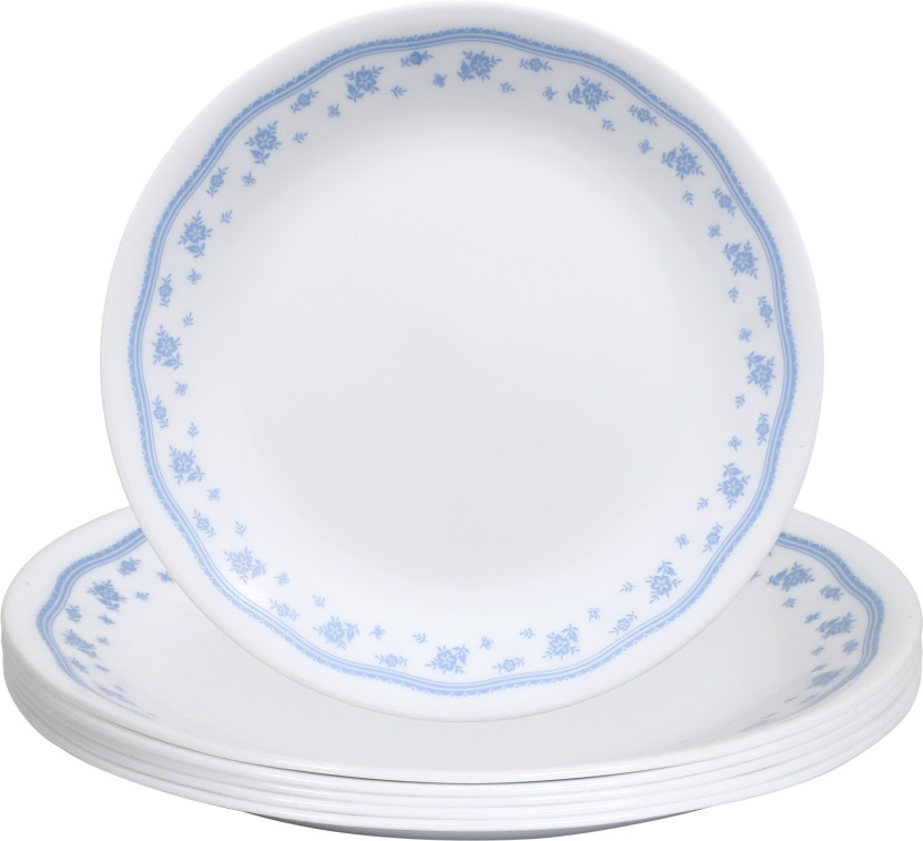 wonderful Corelle Luncheon Plates Open Stock Part - 16: CORELLE Livingware Plus Morning Blue Dinner Plates
