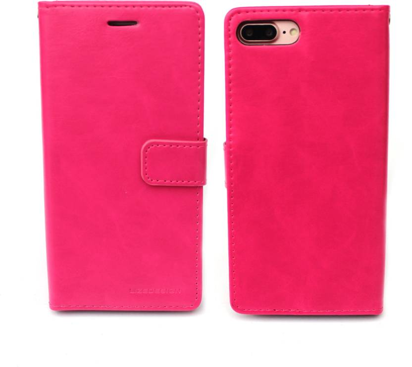 Fashion Flip Cover for Apple iPhone 7 Plus Pink