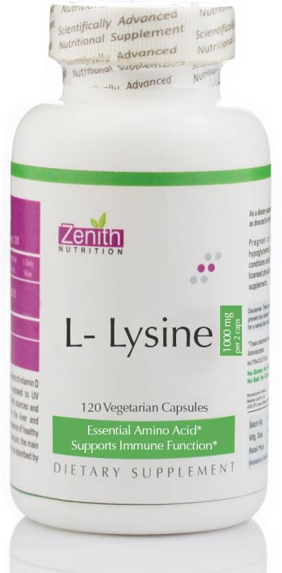 Zenith Nutrition L-Lysine 1000mg – 120 Nos
