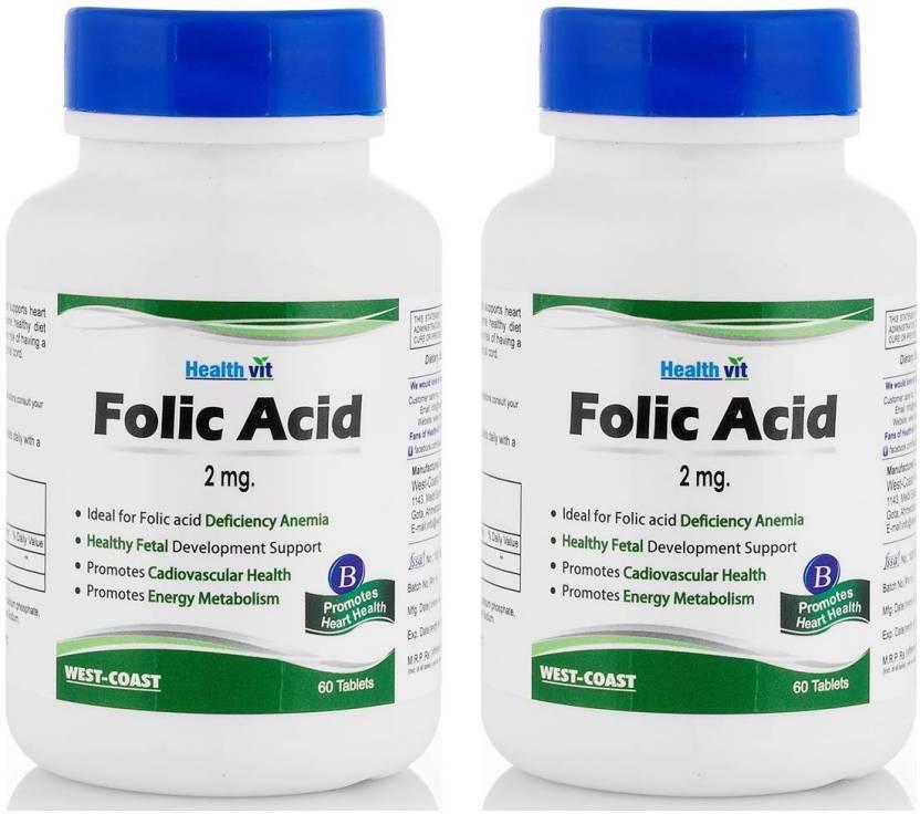 HealthVit Folic Acid 2 mg (Pack of 2)