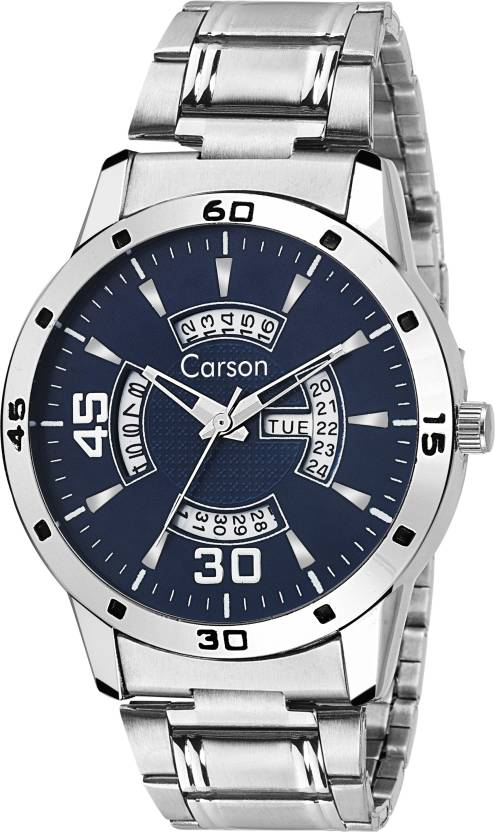 Carson CR5604 Day and Date Refiner Watch - For Men