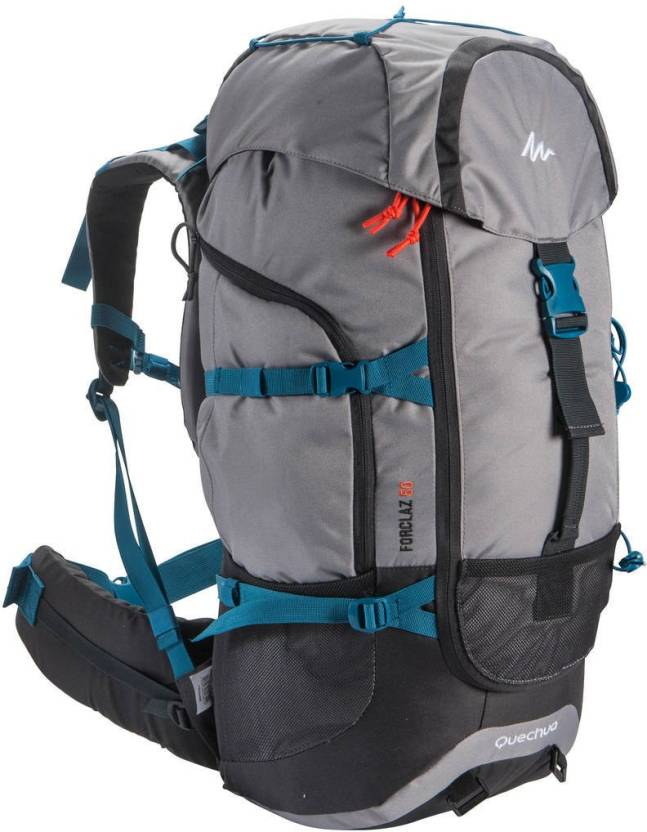 e1d882adf9135 Quechua by Decathlon Forclaz 50 L Backpack Grey - Price in India ...