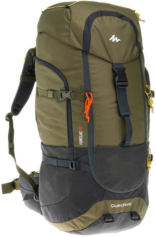 b11b6b869 Quechua by Decathlon Forclaz 70 L Backpack Khaki - Price in India ...