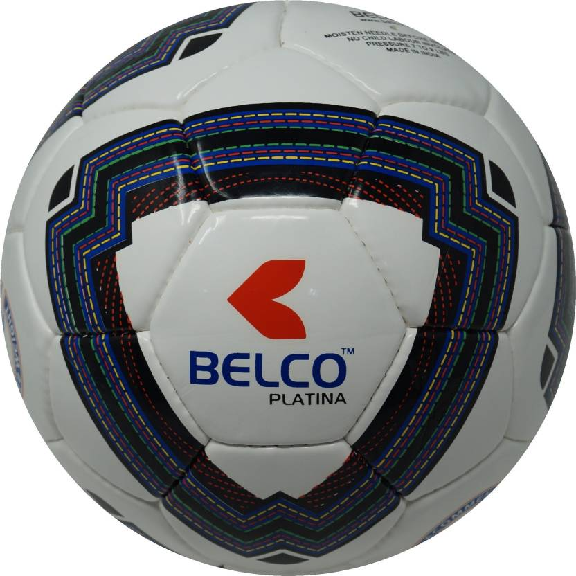 BELCO PLATINA 2 WHITE BLACK  Football   Size: 5 Pack of 1, White, Black