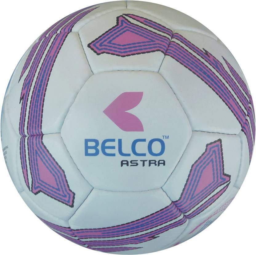 BELCO ASTRA 3 WHITE PINK  Football   Size: 5 Pack of 1, White, Pink