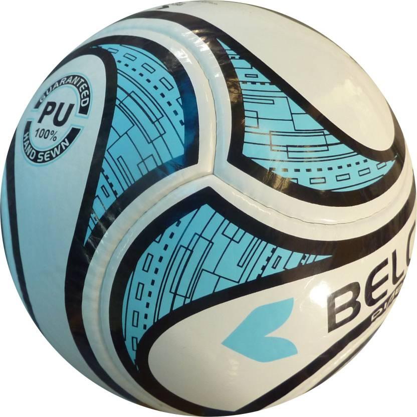 BELCO Diablo 3 WHITE BLUE  Football   Size: 5 Pack of 1, White, Blue