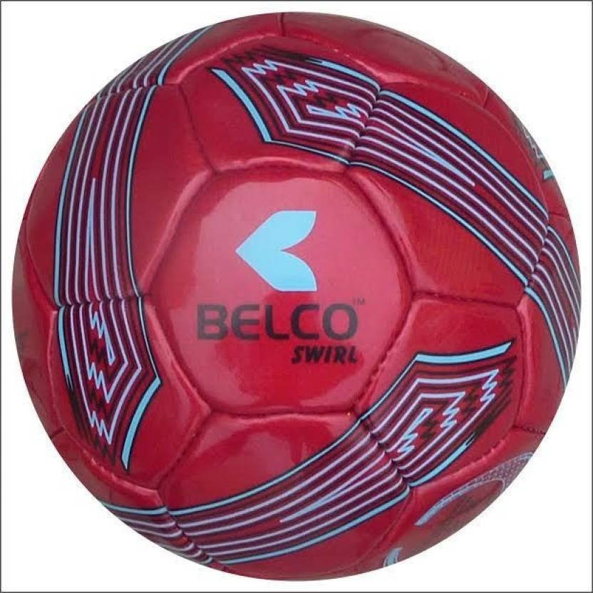 BELCO SWIRL2 RED  Football   Size: 5 Pack of 1, Red