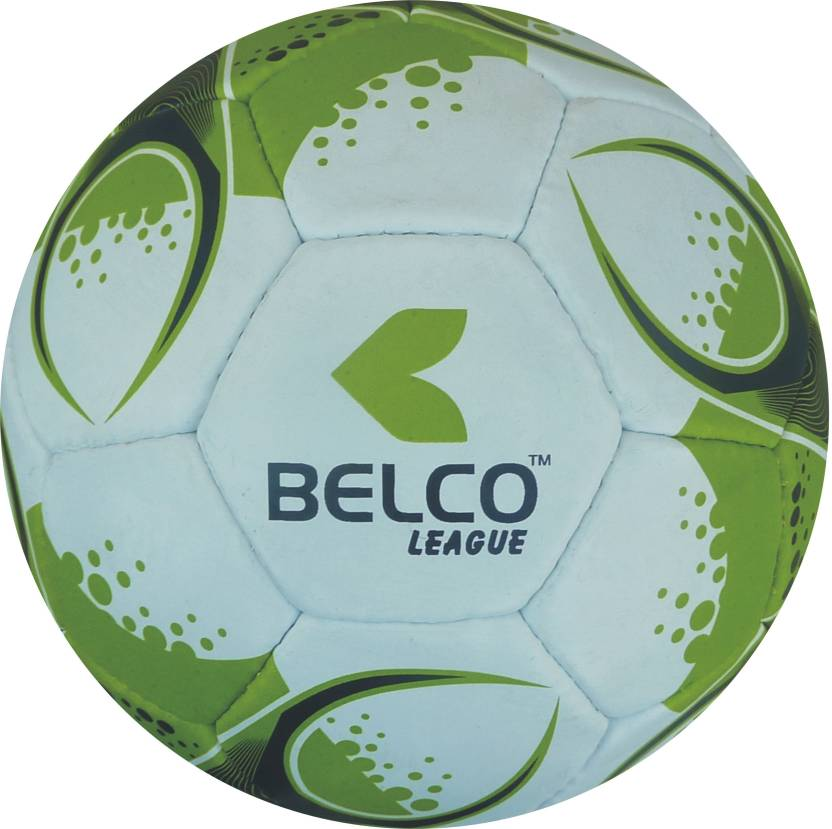 BELCO LEAGUE 3 WHITE GREEN  Football   Size: 5 Pack of 1, White, Green