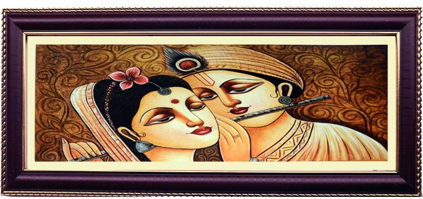 Shree Sai Radha Krishna Online Wall Painting with Frame Handicraft ...