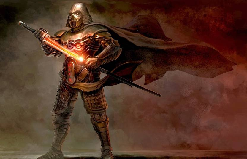 Akhuratha Wall Poster Darth-Vader-samurai-artwork-fantasy