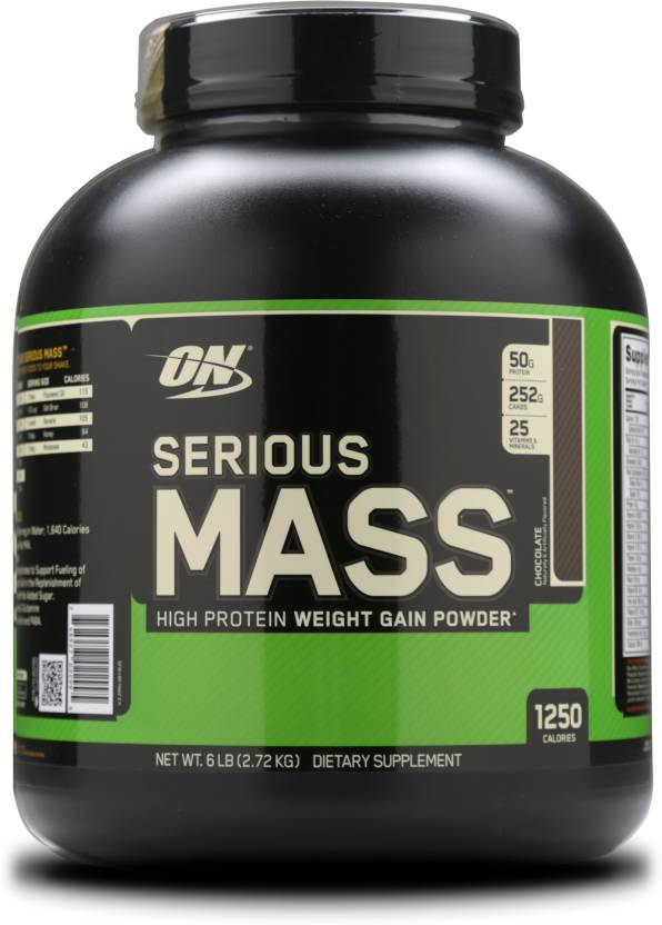 Optimum Nutrition Serious Mass Weight Gainers  (2.72 kg, Chocolate)-20% OFF