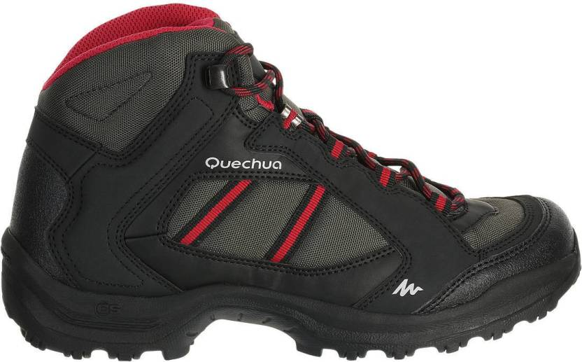 87120824578 Quechua by Decathlon Arpenaz 50 Mid Hiking   Trekking Shoes For Women  (Black)
