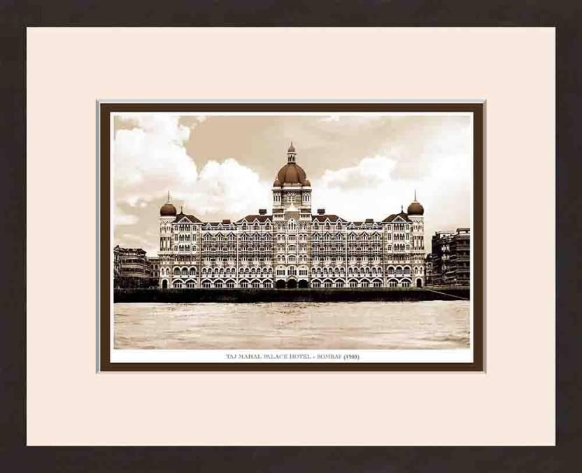 Old Vintage Bombay (Mumbai) Wooden Photo frame of Taj Mahal Palace ...