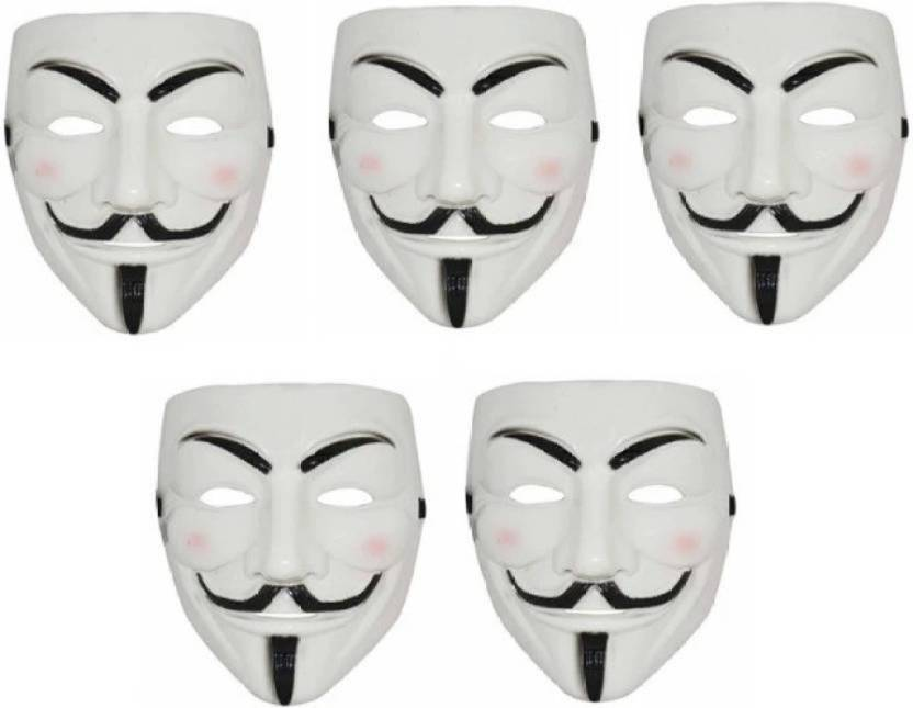 Charismacart V For Vendetta Comic Face Anonymous White Gift Set Of