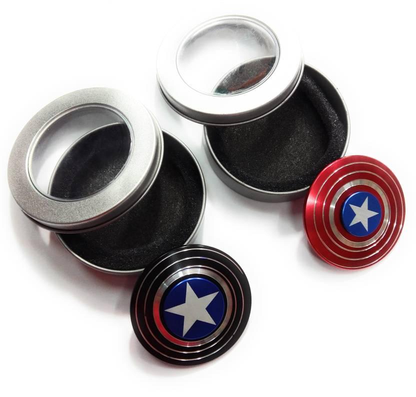 kausal kf The Anti-Anxiety 360 Spinner Fidget Toy Captain America Shield Helps Focusing Premium