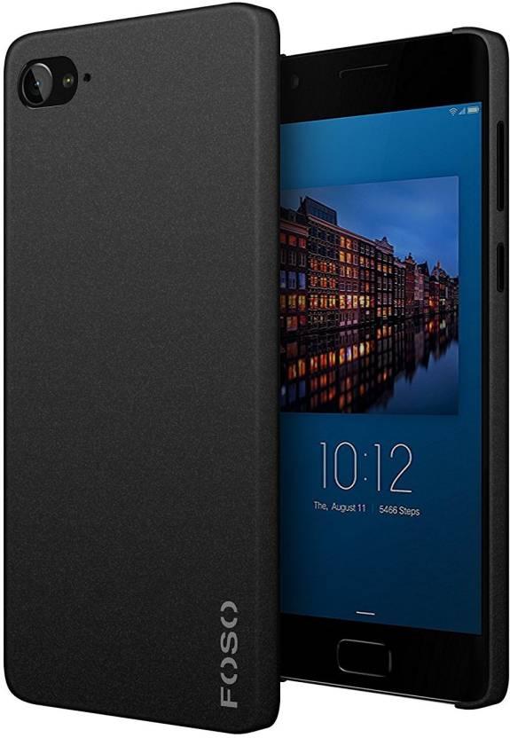 FOSO Back Cover for Sandstone / Quicksand Finish Lenovo Z2 Plus (Black, Plastic)