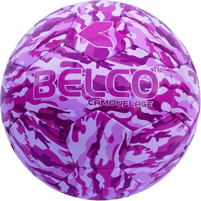 BELCO Camouflge 2 PINK  Football   Size: 5 Pack of 1, Pink