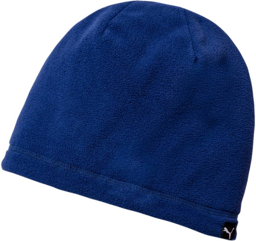 600b22a8e6f Puma Woven Blue ACTIVE Fleece Beanie Cap - Buy Puma Woven Blue ACTIVE  Fleece Beanie Cap Online at Best Prices in India