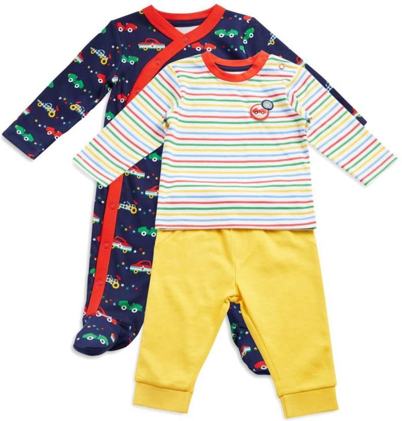 71a566211ce3 Mini Klub Baby Boys Multicolor Sleepsuit - Buy Mini Klub Baby Boys ...