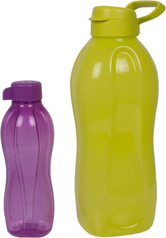 Tupperware Pack of 2 ( Yellow 2 Liters , Purple 500 Ml) 2500 ml Bottle
