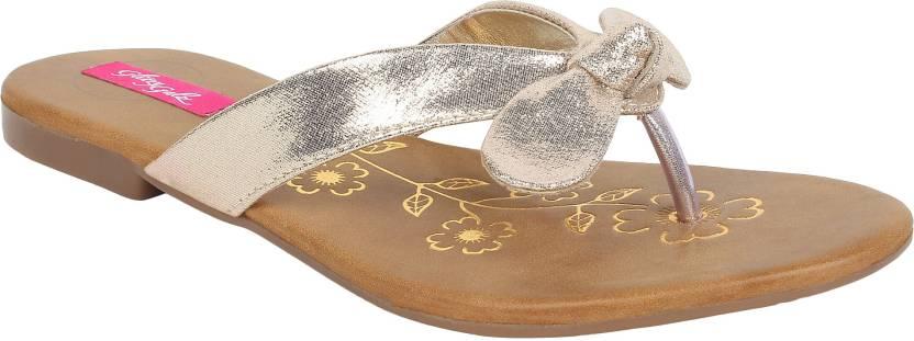 66c4a45a0 Glitzy Galz Women GOLDEN Flats - Buy GOLDEN Color Glitzy Galz Women ...