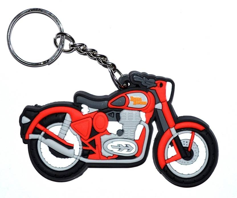 new arrival ccb28 e7e32 Andride Royal Enfield   Bullet   Electra   Classic   Thunderbird Logo  Synthetic   Rubber Bike Keychain (Black Red White) Key Chain Price in India  - Buy ...