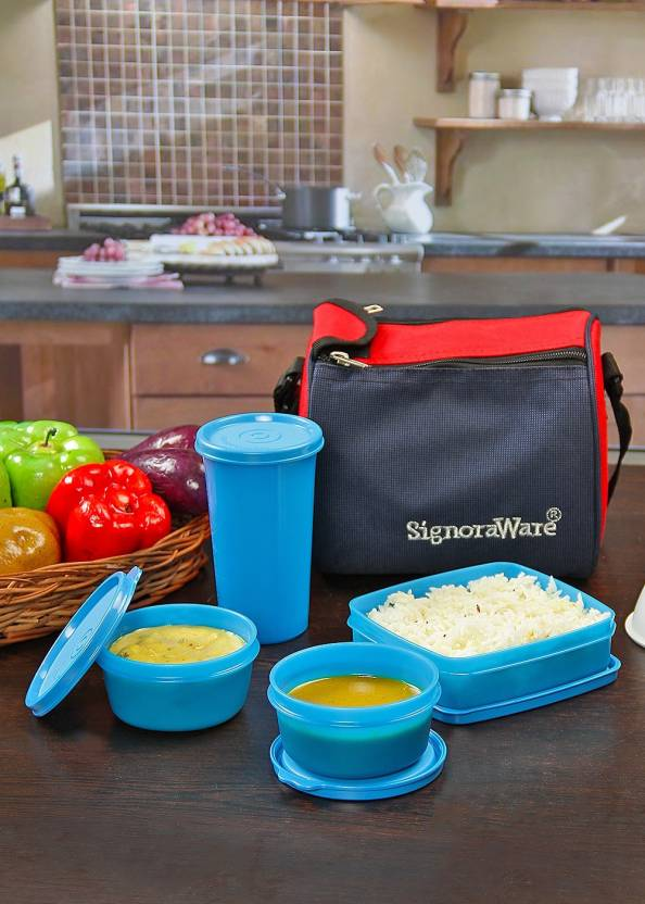Signoraware 513 4 Containers Lunch Box 980 ml