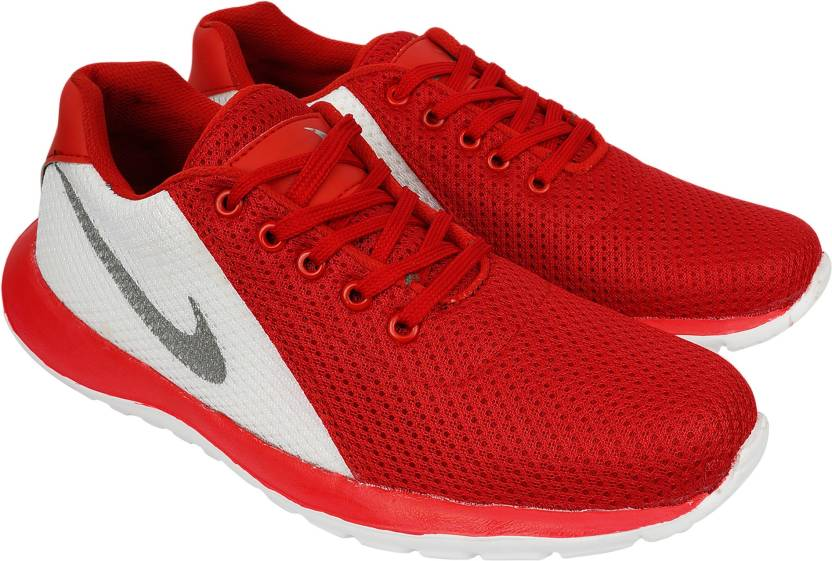 996f05d8b88b AMJ Red Sports Mesh Sports Shoes for Men Running Shoes For Men - Buy ...
