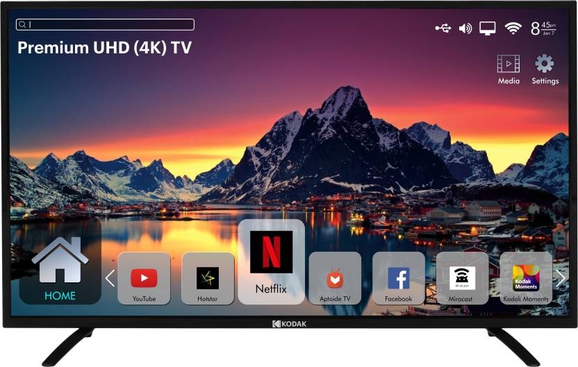 WHATS NEW !TOP'S Best Smart TV's Under 50000Rs - Kodak 140cm (55 inch) Ultra HD (4K) LED Smart TV  (55UHDXSMART)