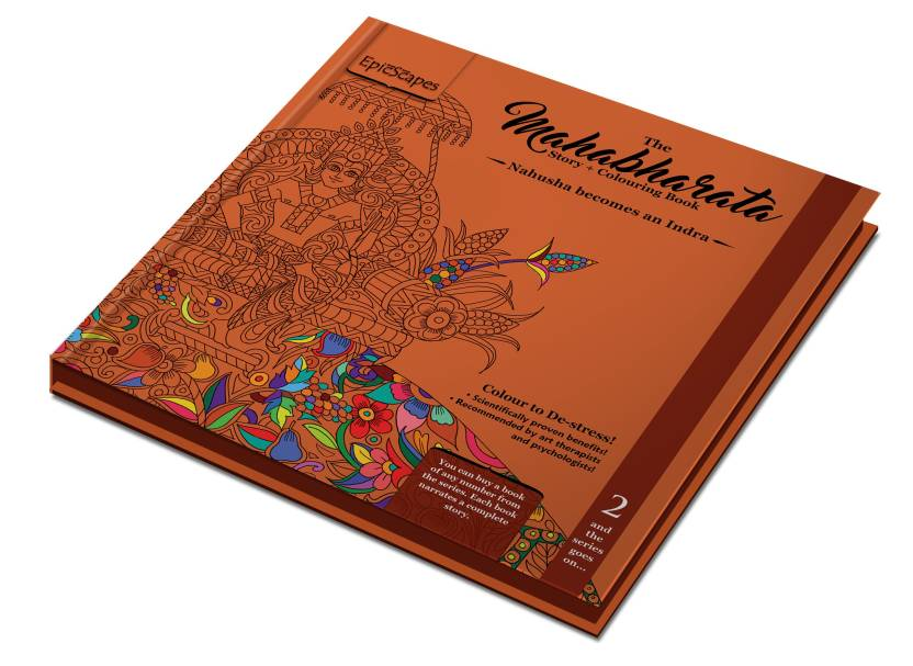 Nahusha Becomes An Indra Mahabharata Colouring Book