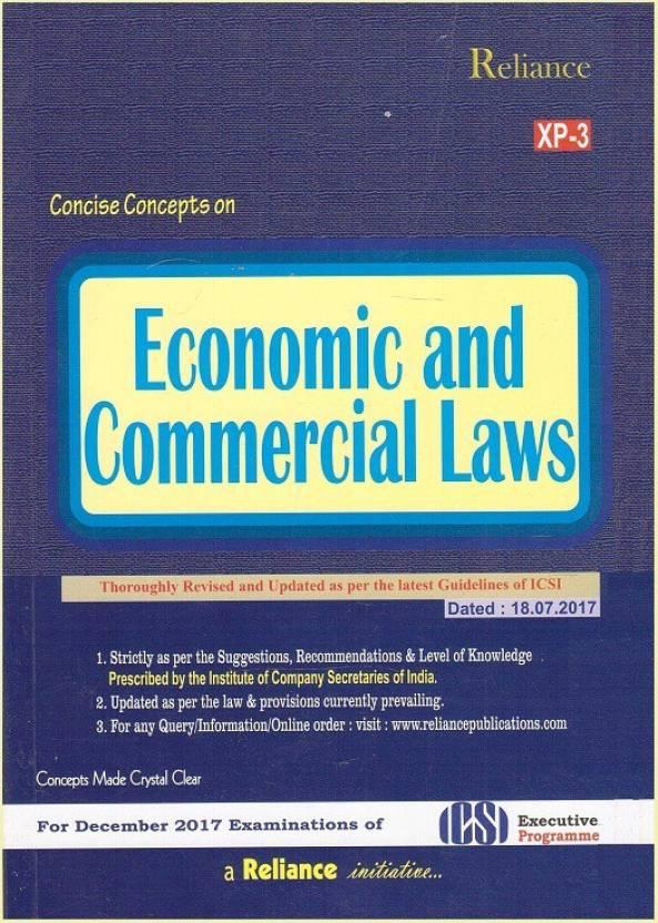 Reliance Publication's Economic and Commercial Laws (ECL