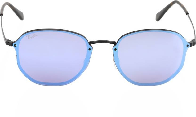bc007db971b Buy Ray-Ban Retro Square Sunglasses Blue For Men   Women Online ...